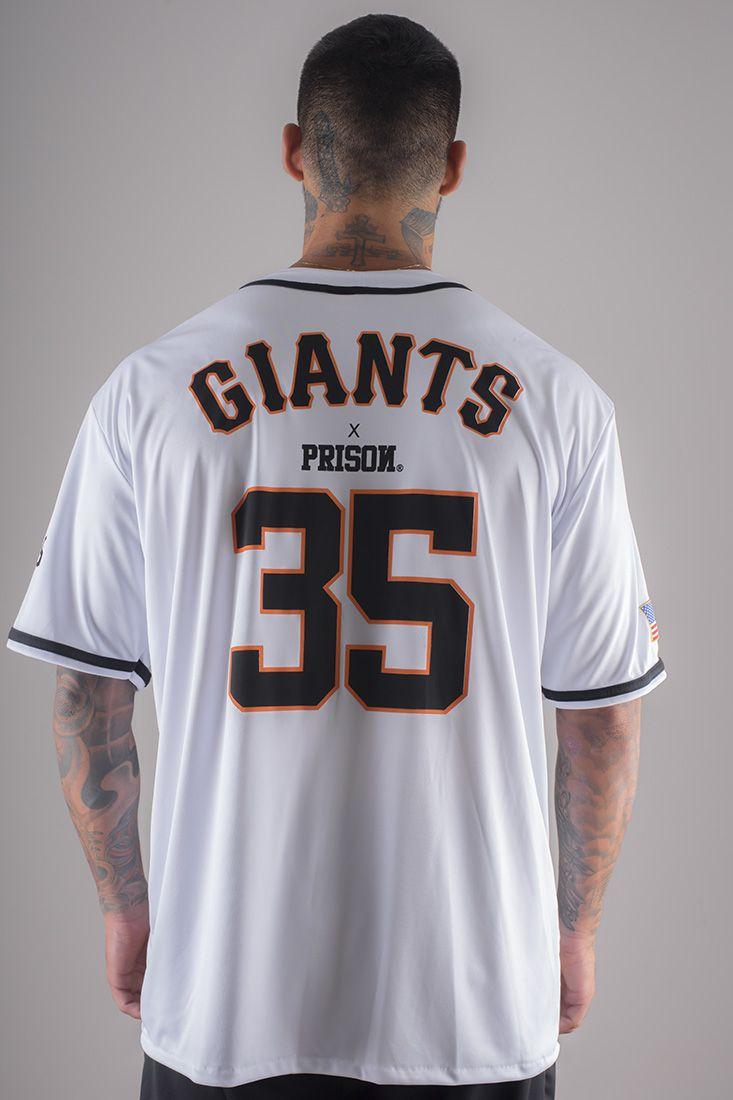 Camisa de baseball Prison GIANTS Branca