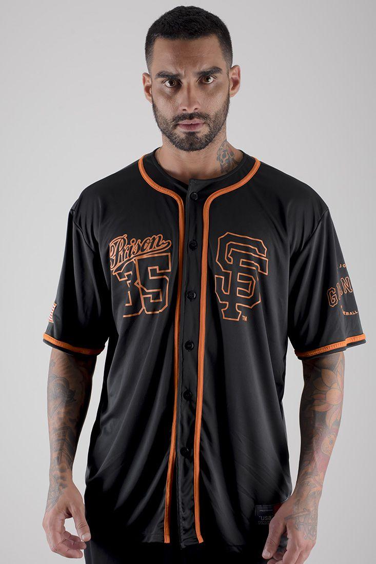 Camisa de baseball Prison GIANTS Preto