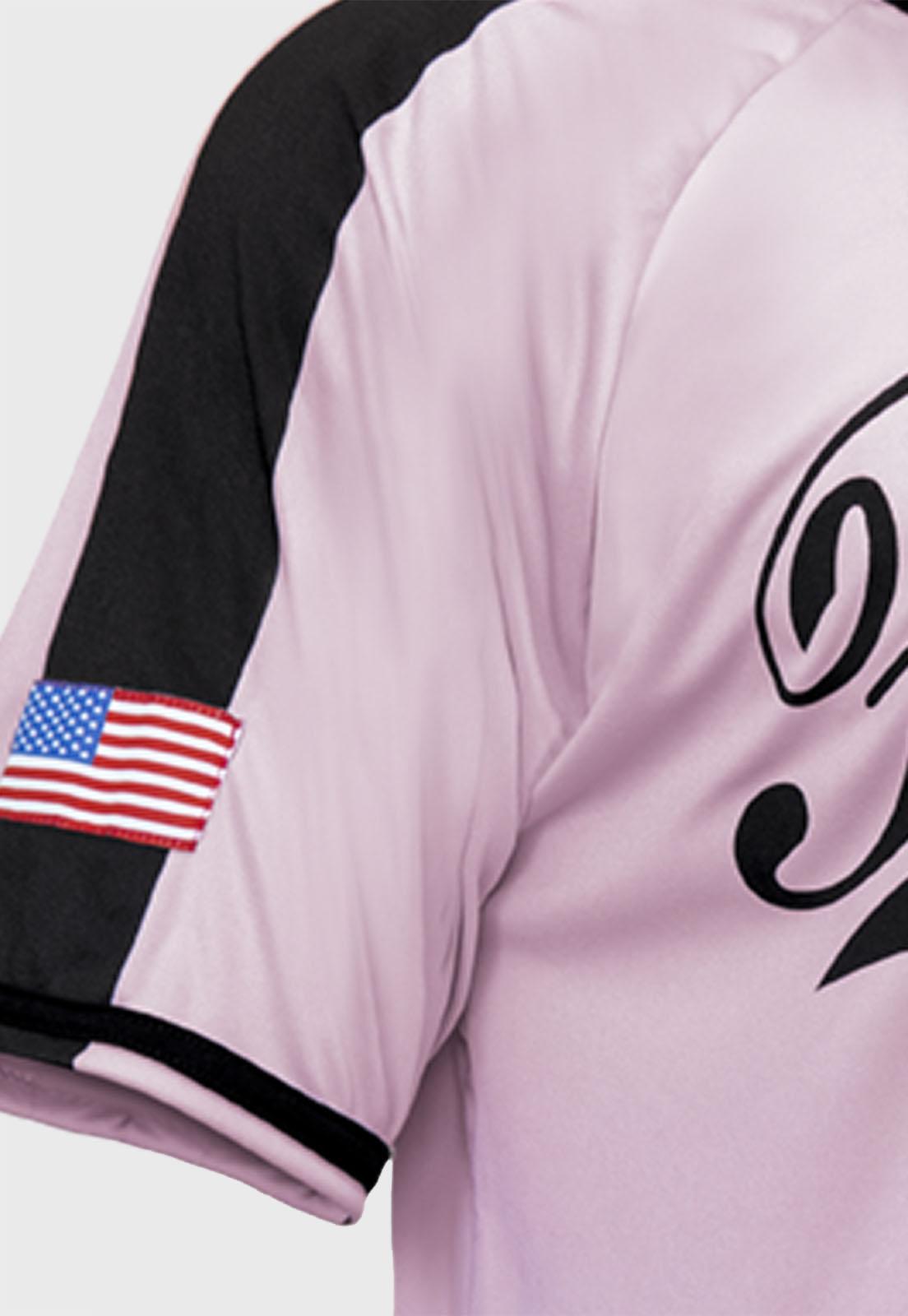 Camisa de Baseball Prison Logo Rosa