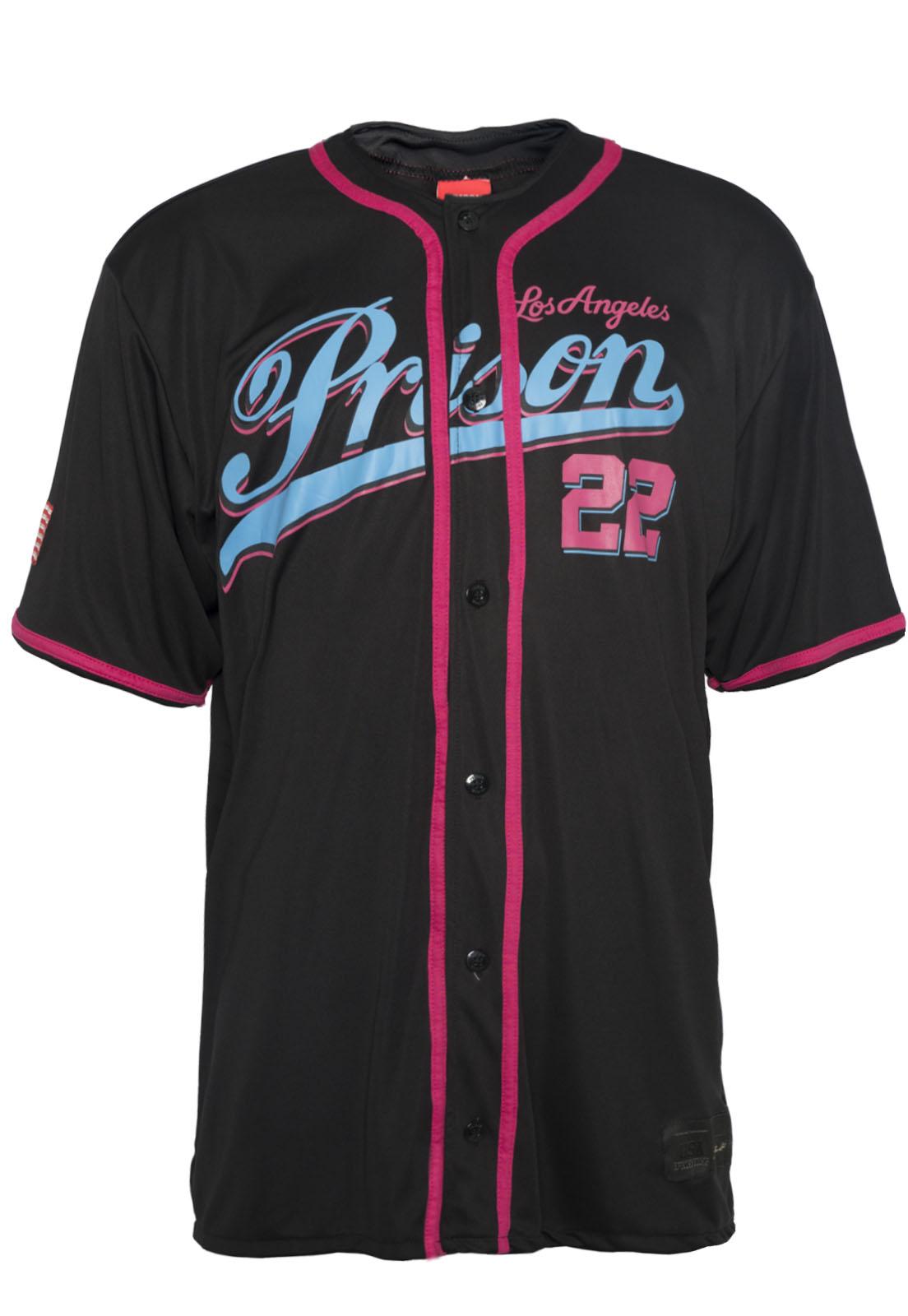 Camisa de Baseball Prison Los Angeles 22 Blue