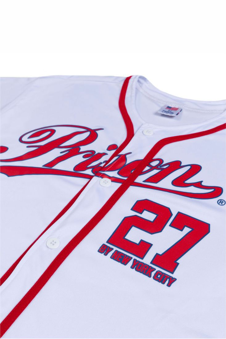 Camisa de Baseball Prison New York 27 Branca