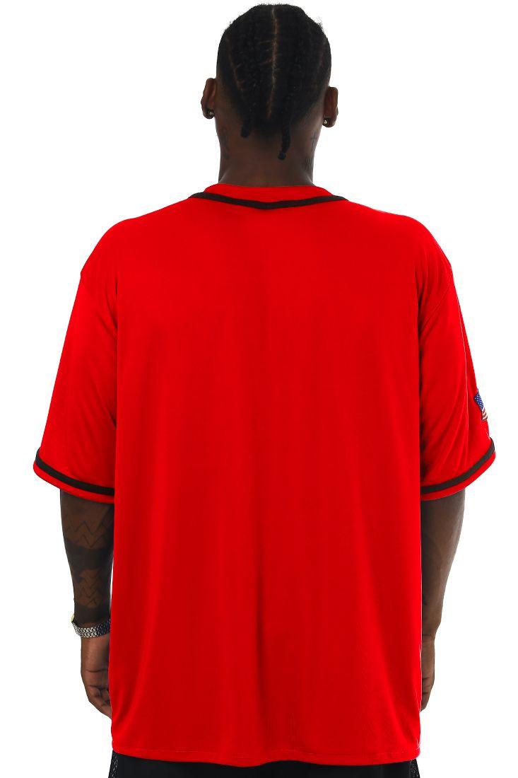 Camisa de Baseball Prison New York 72 Vermelha