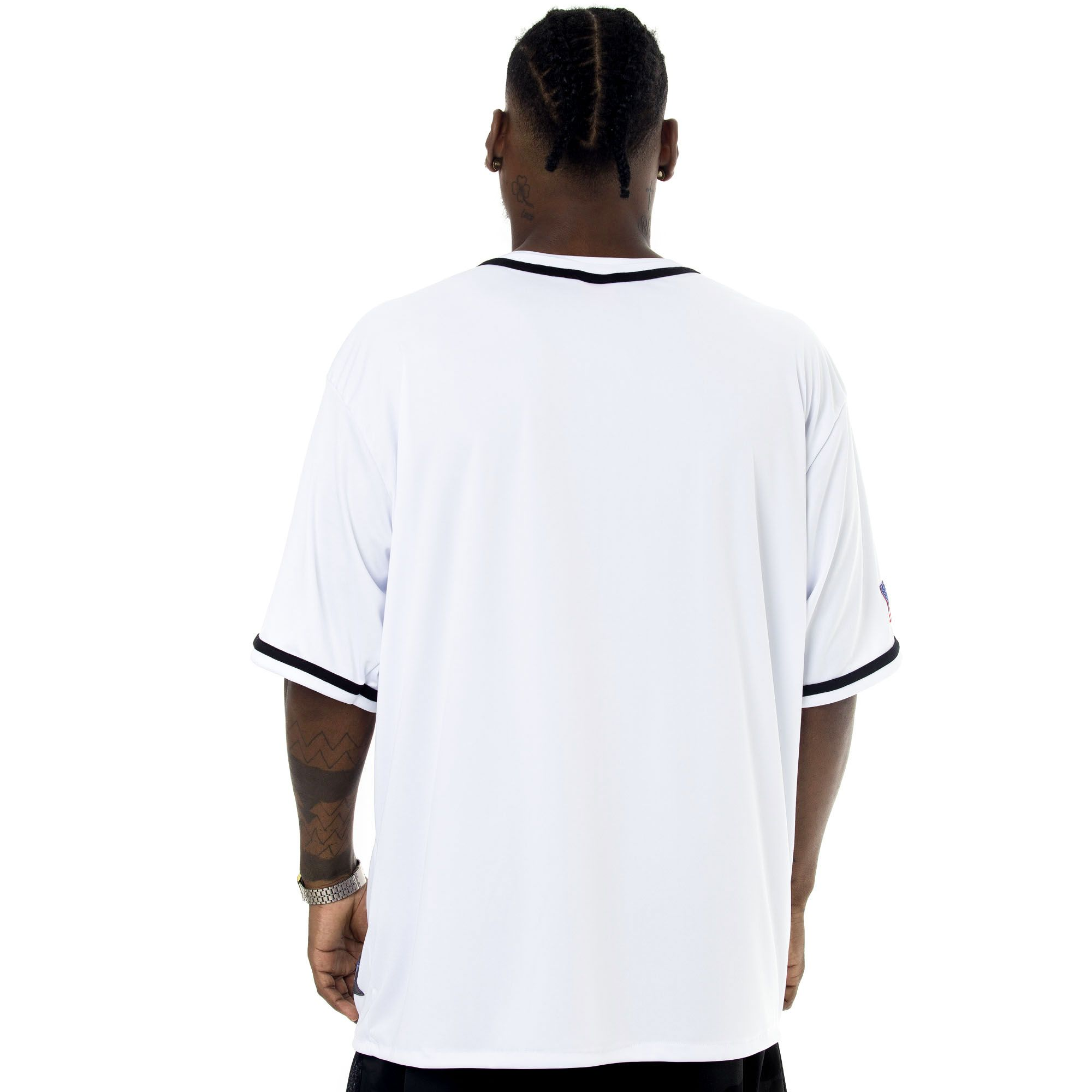 Camisa de Baseball Prison New York City 72 Branca