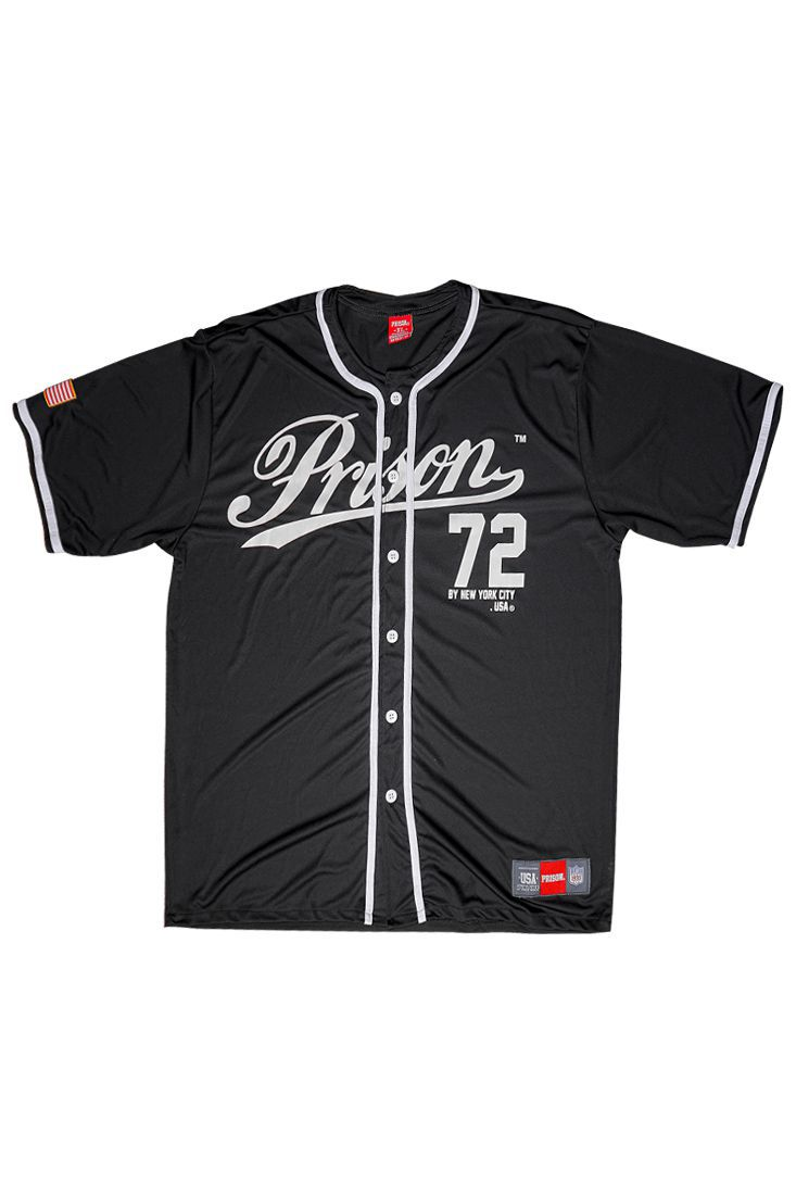 Camisa de Baseball Prison New York City 72 Preta