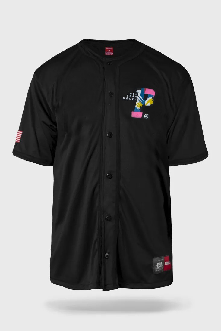 Camisa de Baseball Prison New York Help Preta