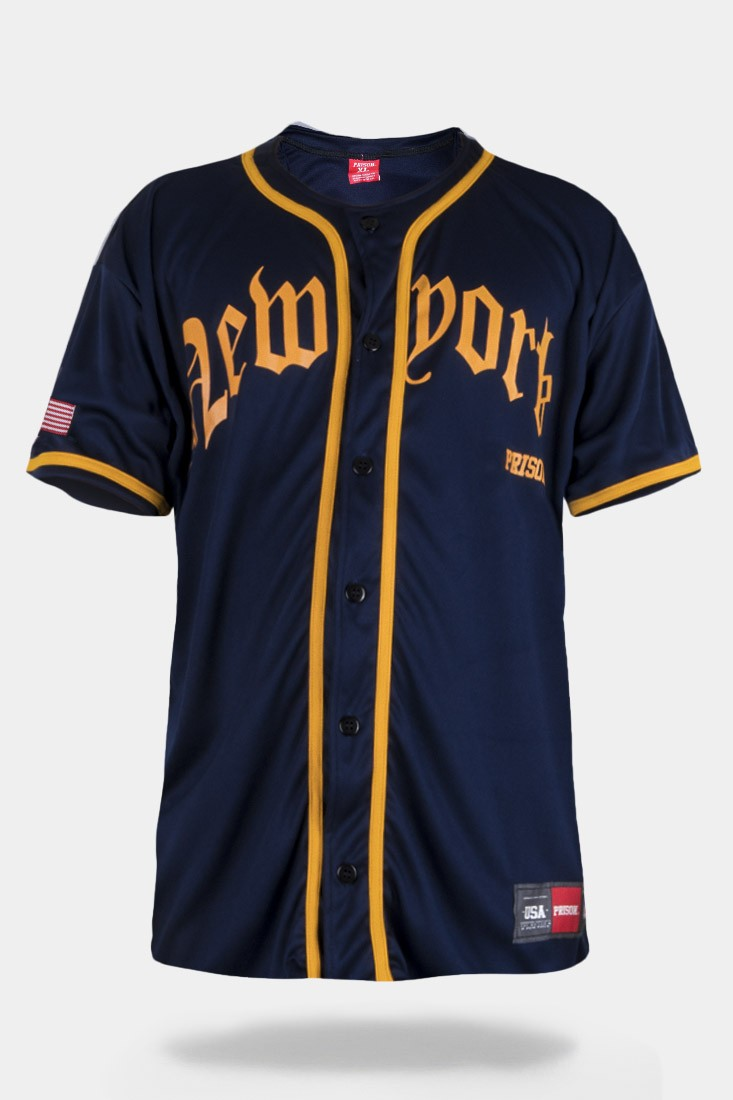 Camisa de Baseball Prison New York Premium