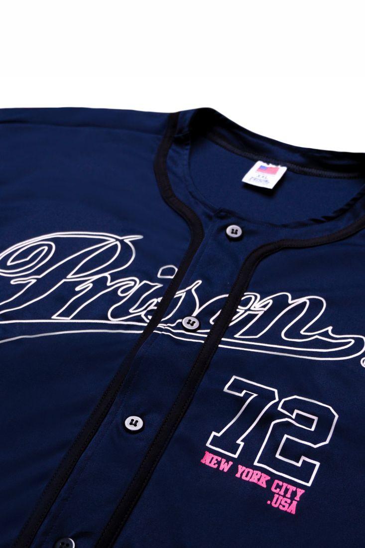 Camisa de Baseball Prison NYC 72 Azul Marinho