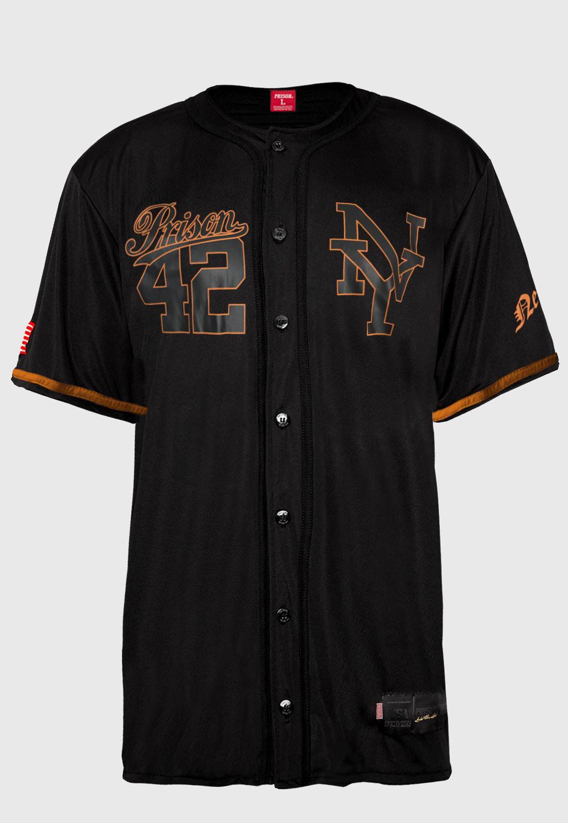 Camisa de Baseball Prison Orange NYC 42