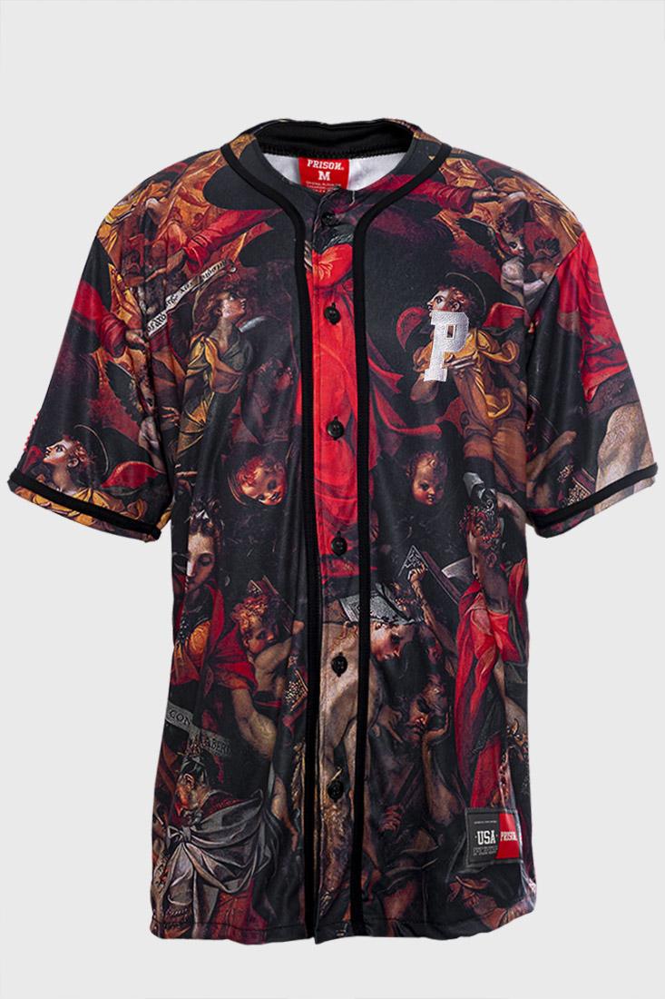 Camisa de Baseball Prison  Original Art Angel