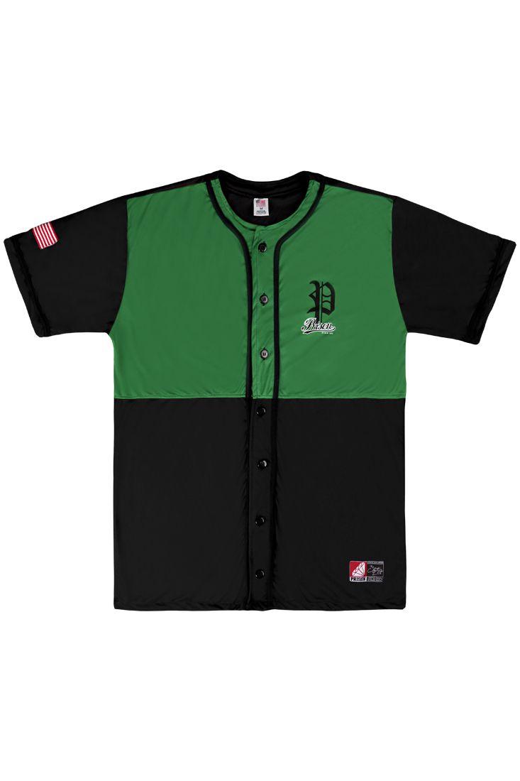 Camisa de Baseball Prison Premium Edition Verde