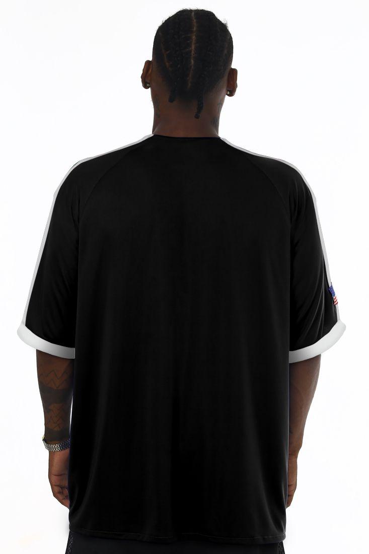 Camisa de Baseball Prison Raglan Icon Preta