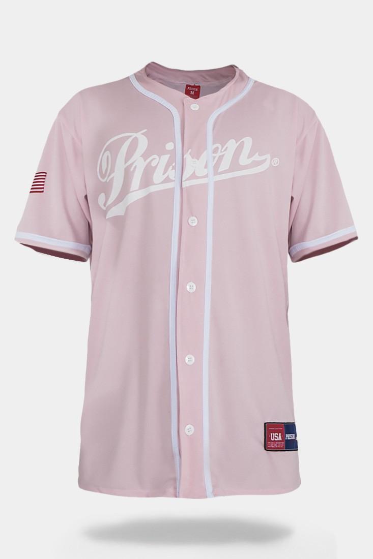 Camisa de Baseball Prison Rosa Hype Pastel