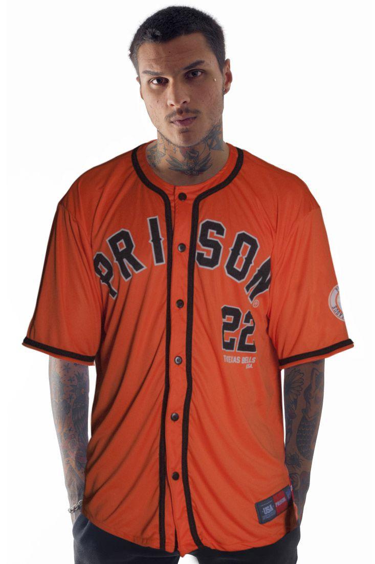 Camisa de Baseball Prison Texas 22 Laranja