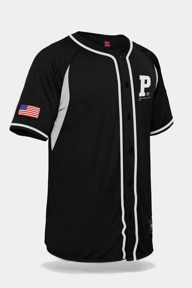 Camisa de Baseball Prison NYC US Preta