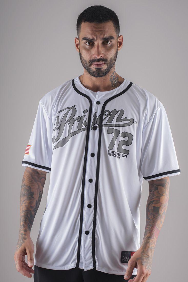 Camisa de Baseball Yankees Prison Branca