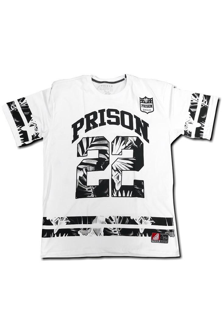 Camisa Futebol americano Prison Branca