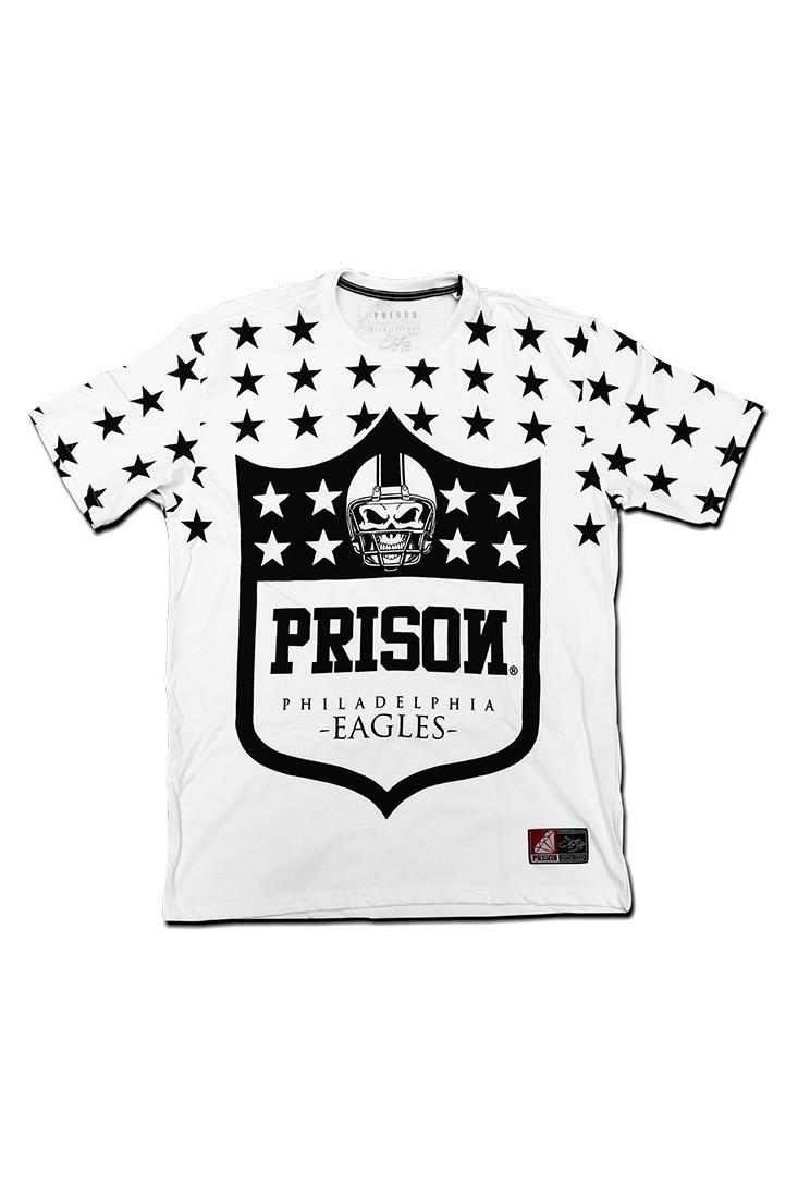 Camiseta Philadelphia Eagles Prison Branca
