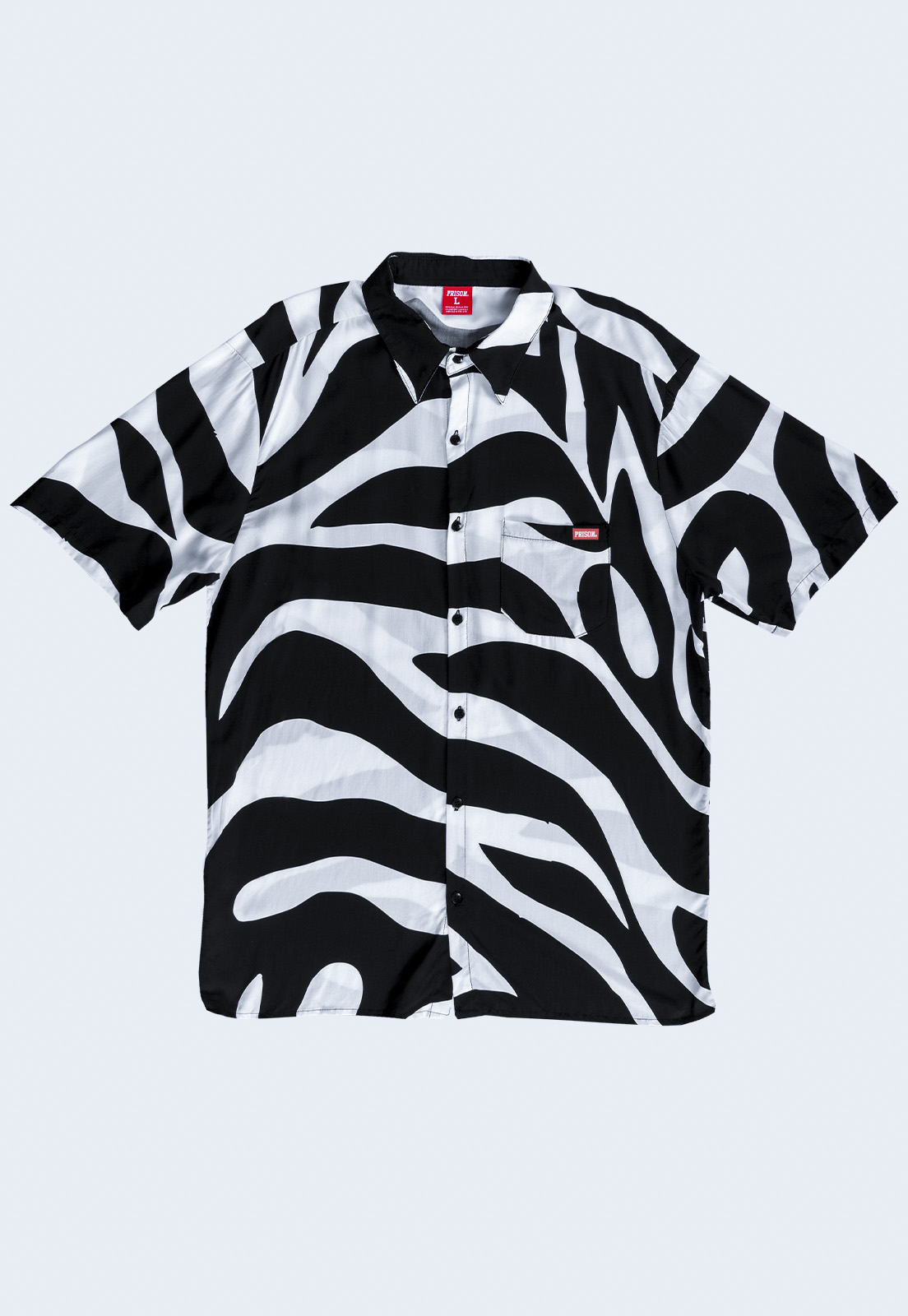 Camisa social Prison Black and White