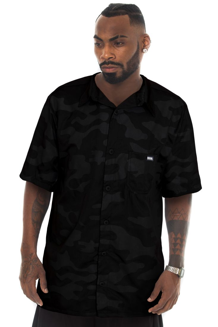 Camisa Social Prison Camouflaged