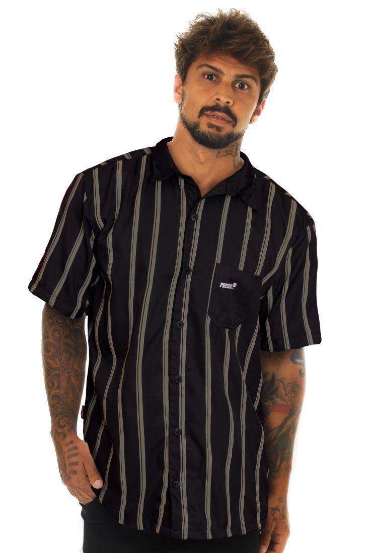 Camisa Social Prison Listrada Thug