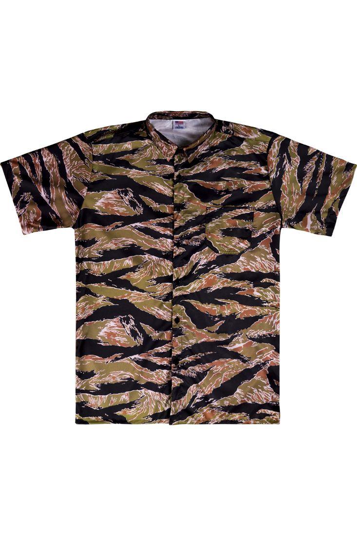 Camisa Social Prison Pimp Tiger