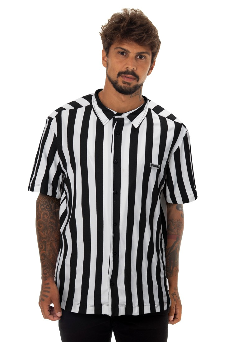 Camisa Social Prison Stripes