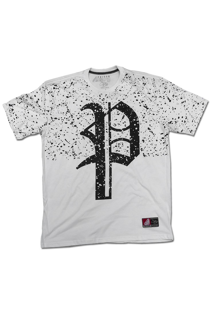 Camiseta Streetwear Prison Smudgy Branca
