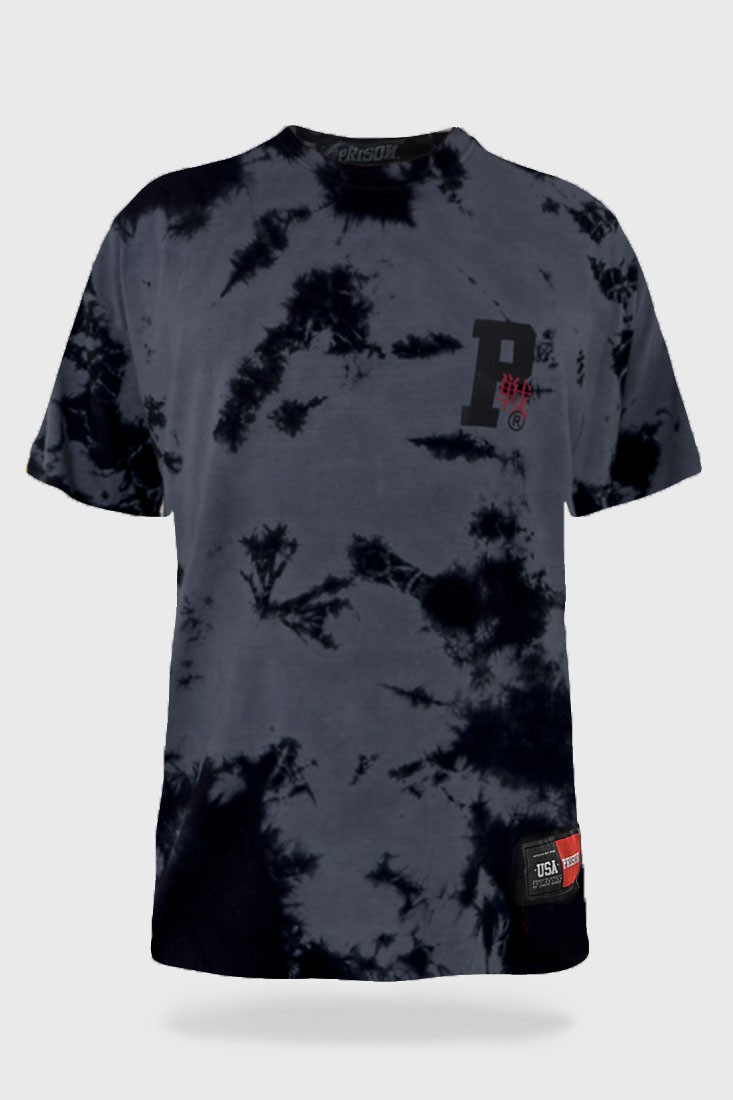 Camisa Tie Dye Prison Japanese Grey