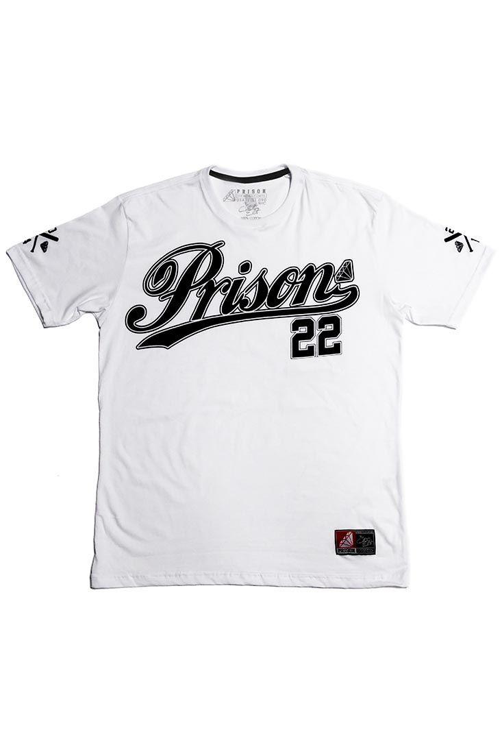 Camiseta Baseball 22 Prison Branca