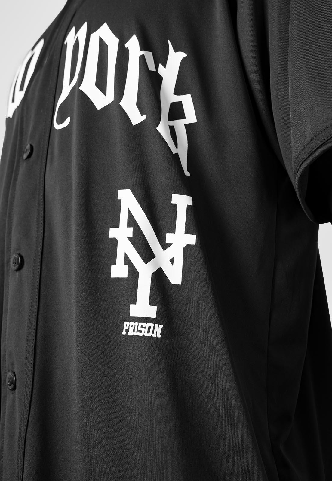 Camisa Baseball New York Prison Preta