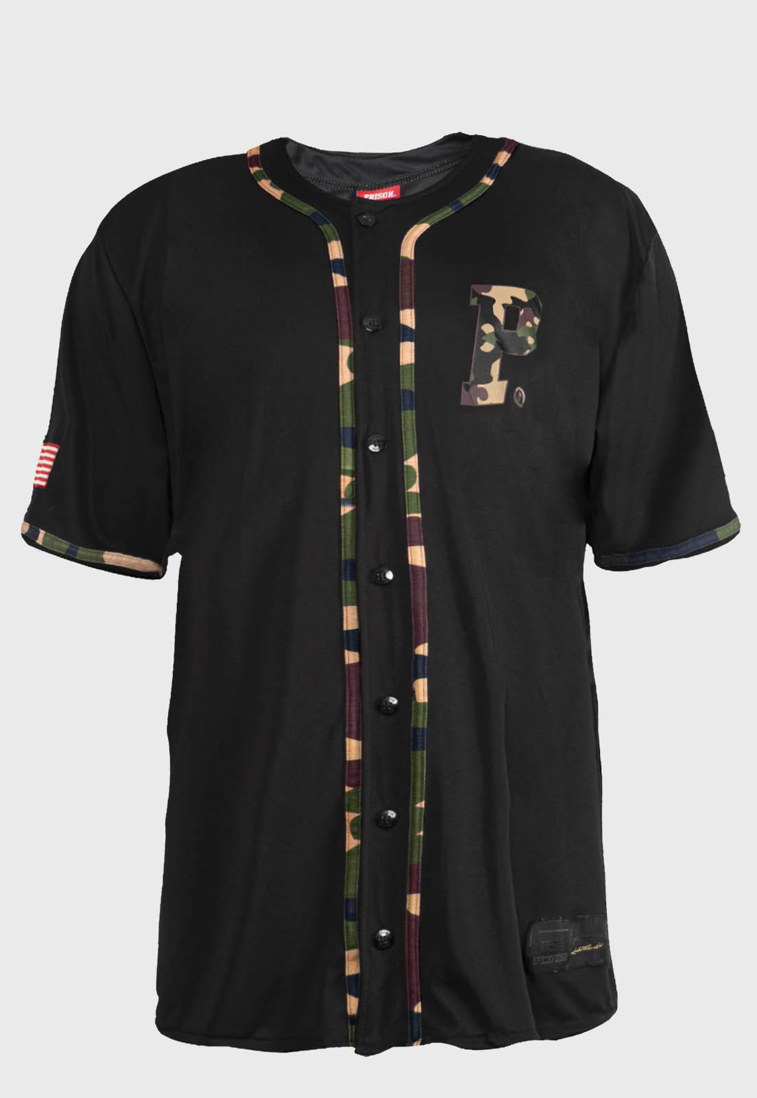 Camiseta Baseball Prison Original's Logo Camuflada