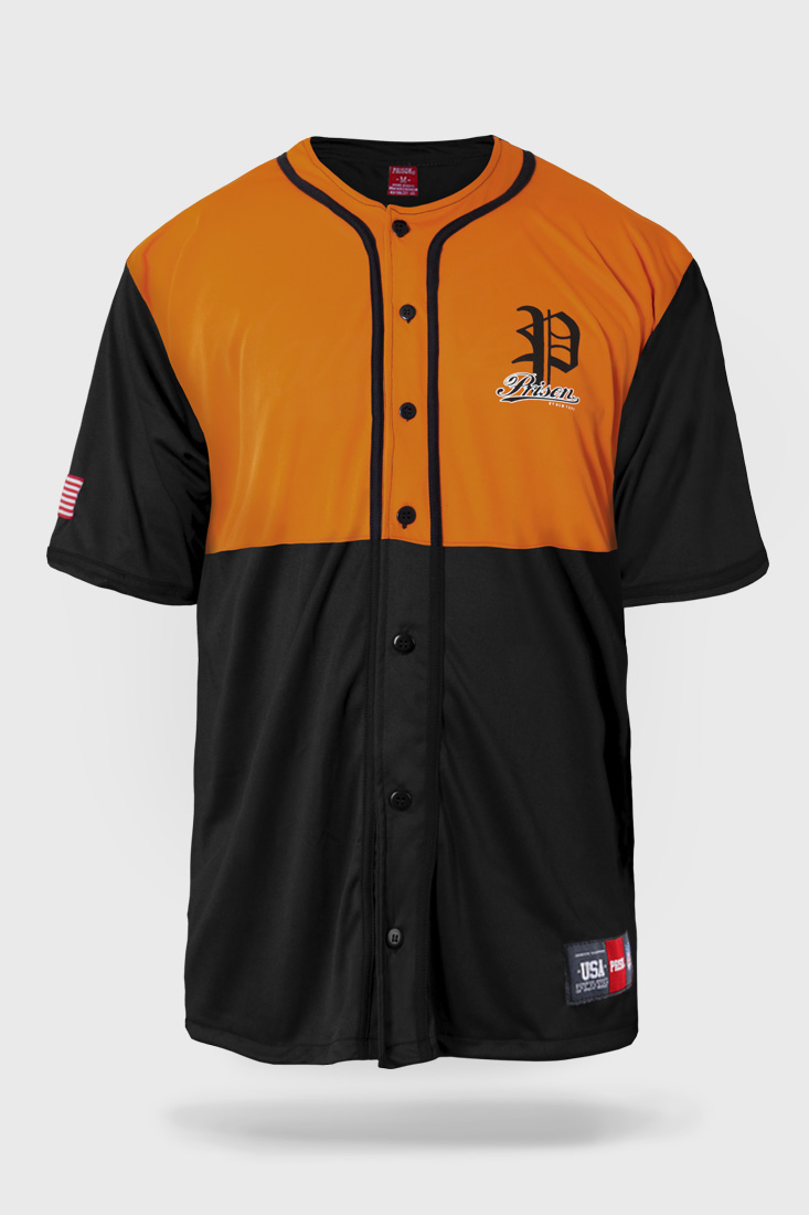 Camiseta Baseball Prison Premium Edition Laranja