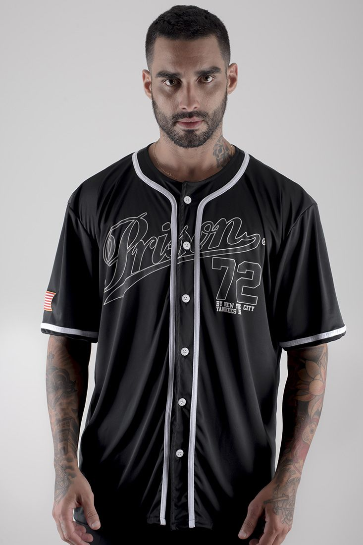 Camiseta Baseball Prison Yankees Preta