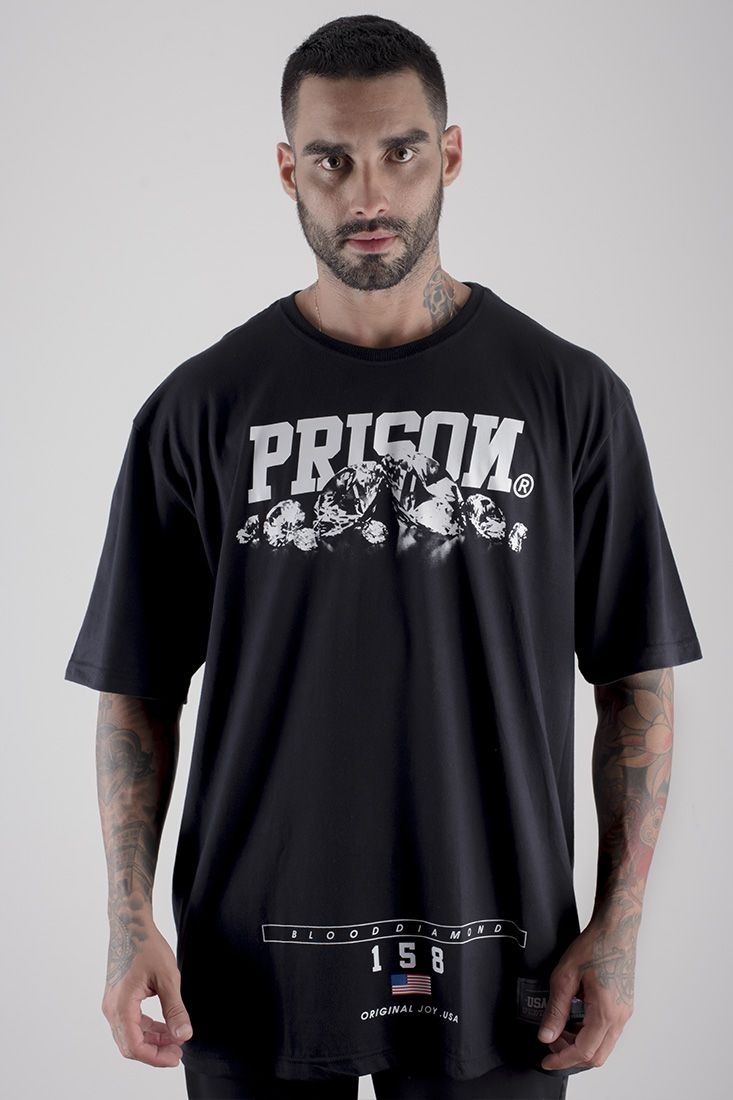Camiseta Blood Diamond Prison Preta