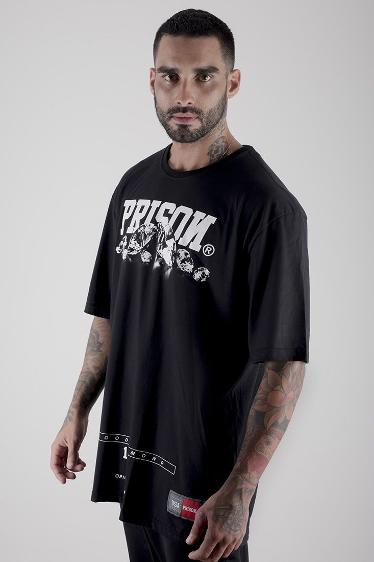 Camiseta Blood Diamond Prison Preta