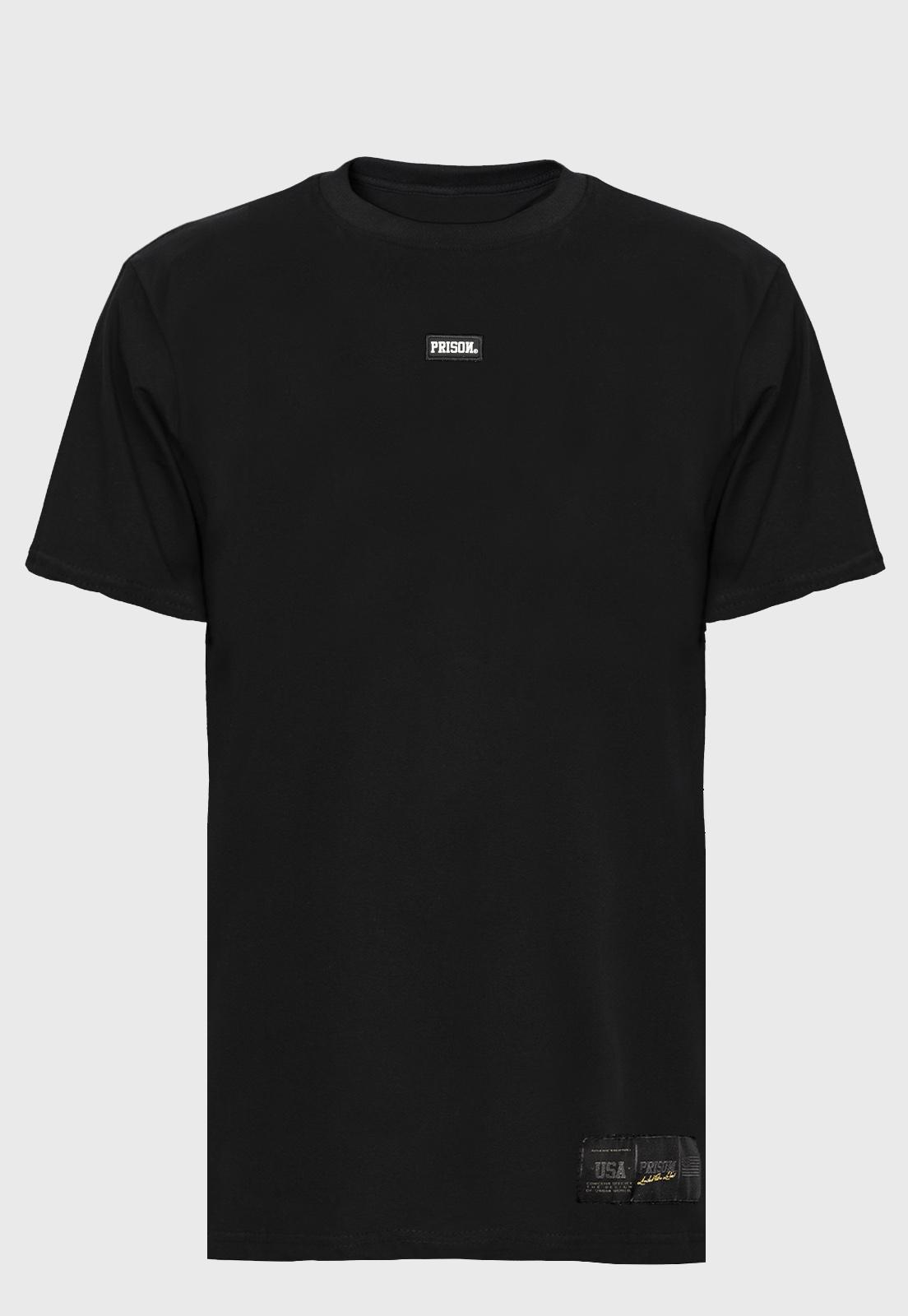 Camiseta Bordada   Streetwear Logo  Prison