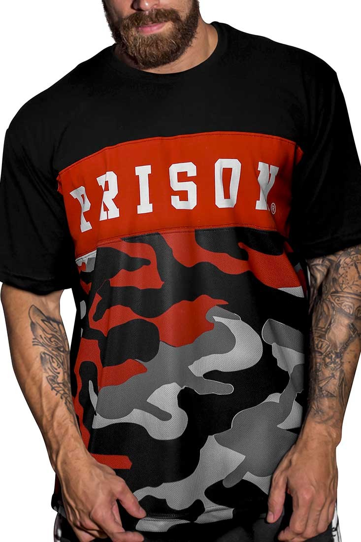 Camiseta Camuflada Red Prison