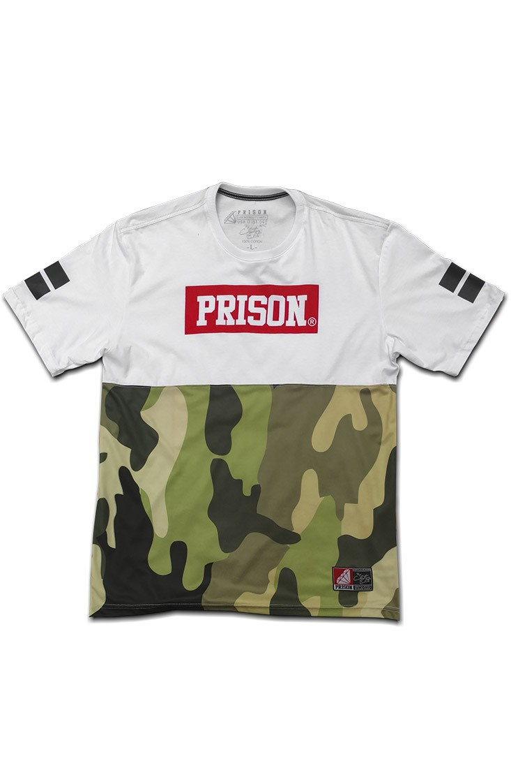 Camiseta Streetwear camuflada Nyc Prison Branca