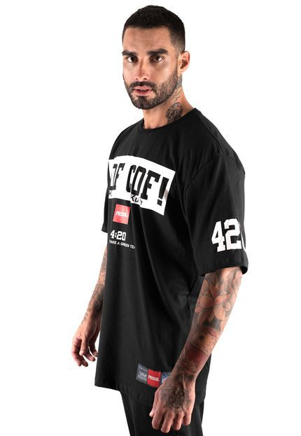Camiseta Cof Cof Street Prison Preta