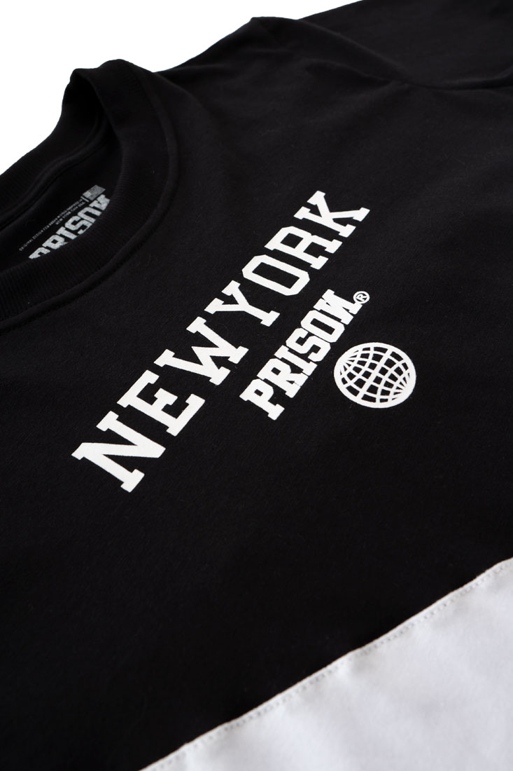 Camiseta Cropped Feminina Prison New York Preta