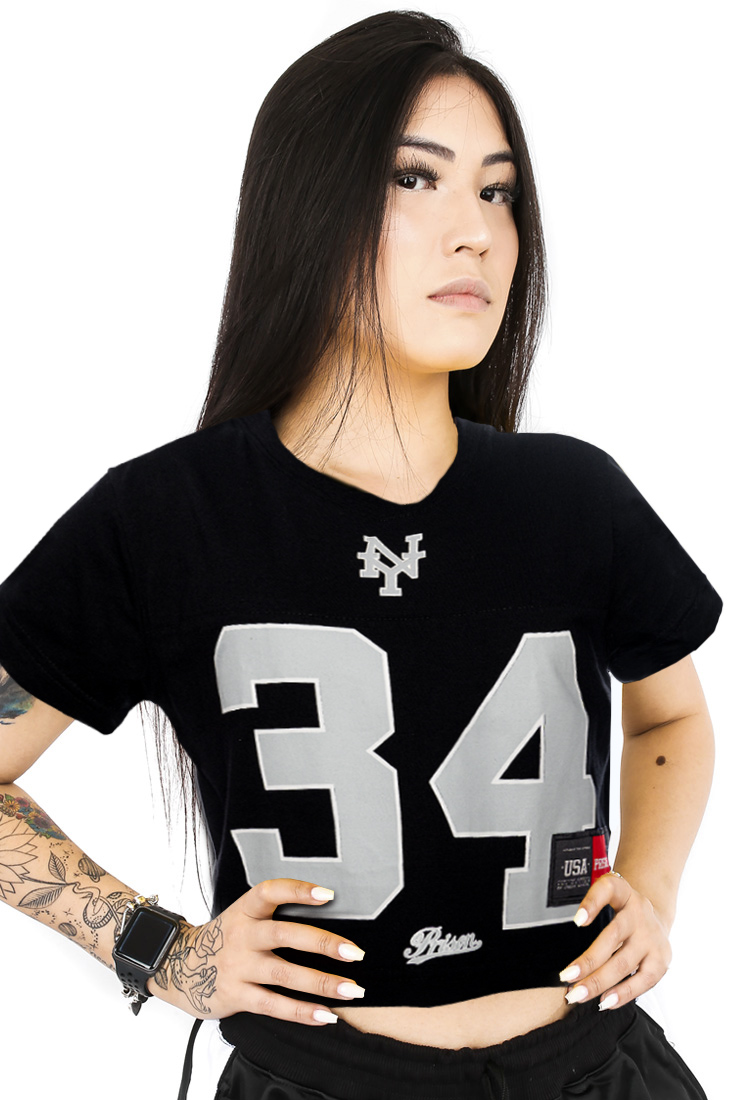 Camiseta Cropped  Prison Nova York black 34