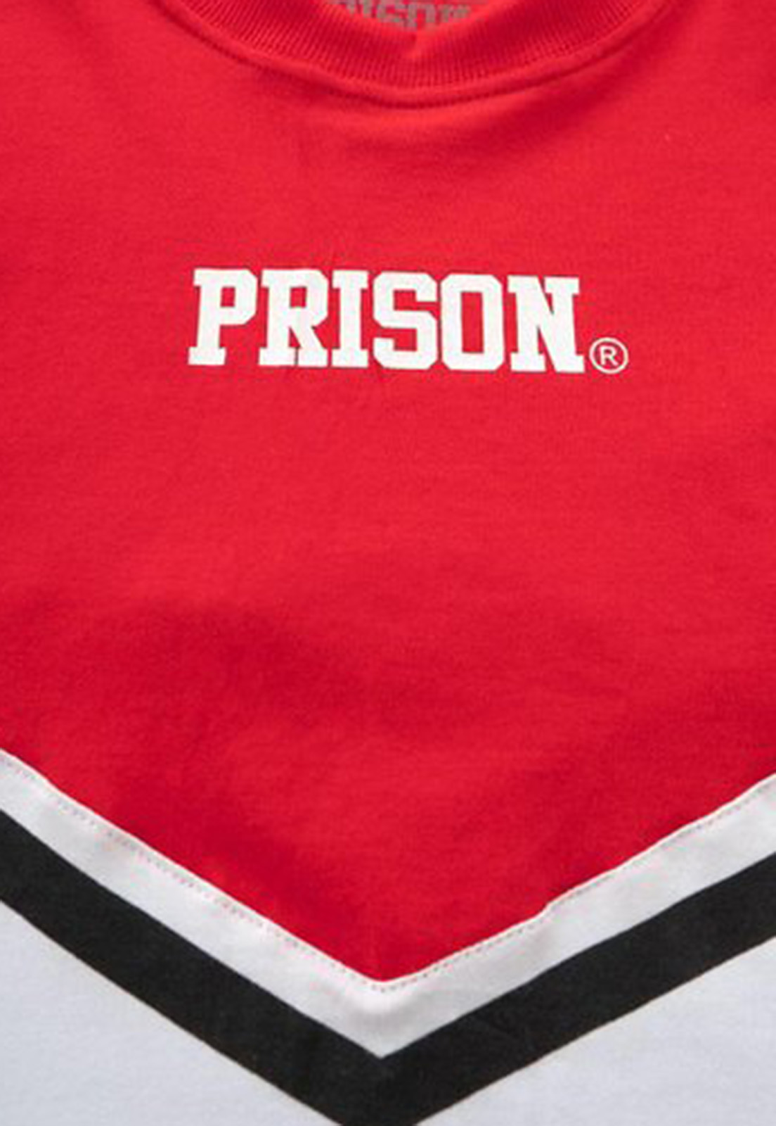 Camiseta Cropped Prison Fancy  Red With a Line