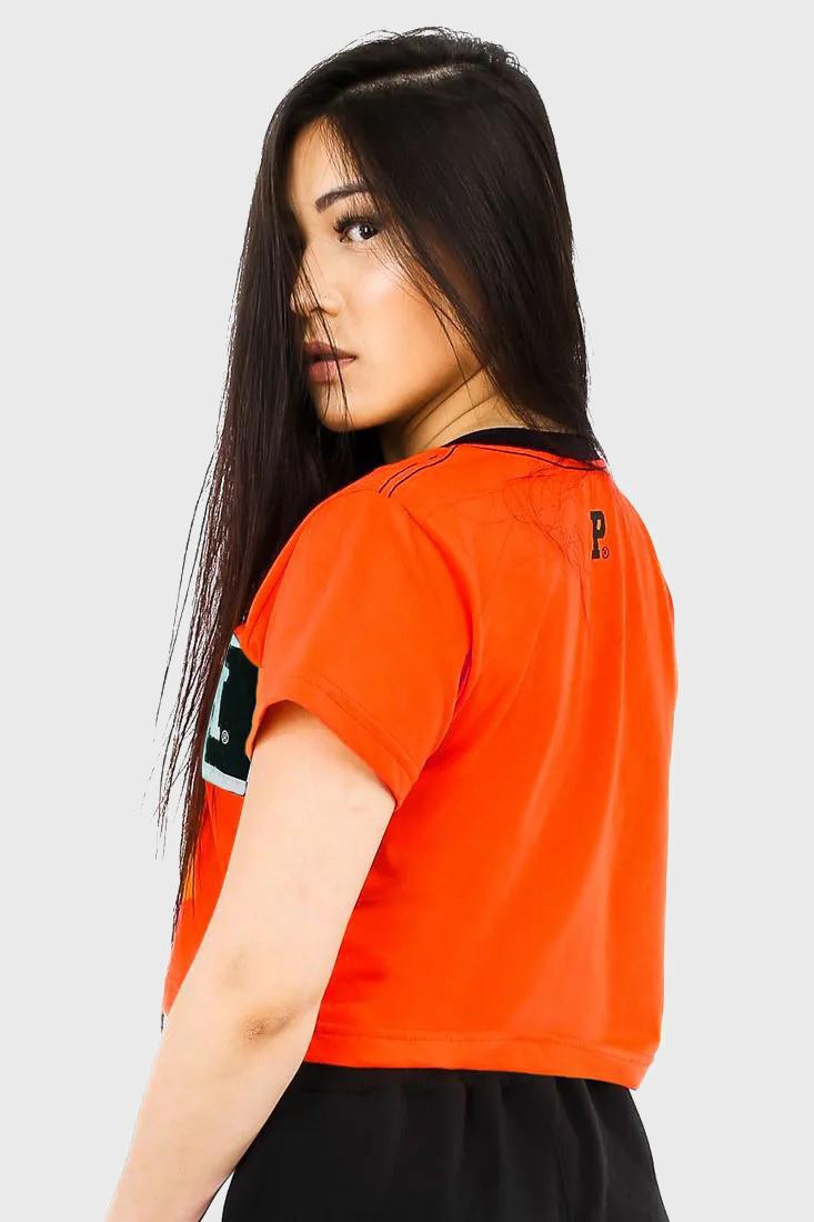 Camiseta Cropped Prison Feminina Black Orange