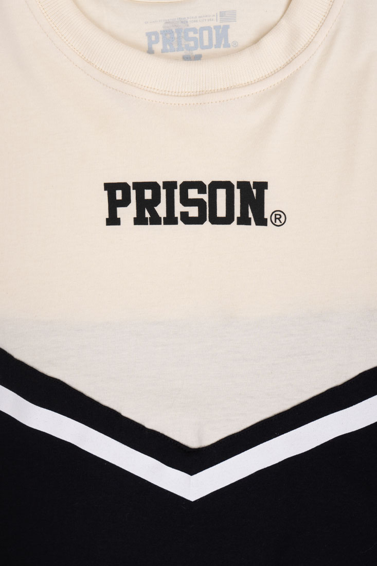 Camiseta Cropped Prison Feminina Fancy Off White