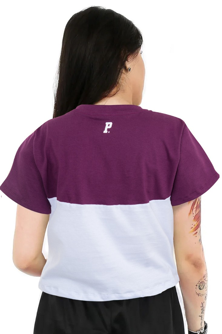 Camiseta Cropped Prison Feminina Fancy purple