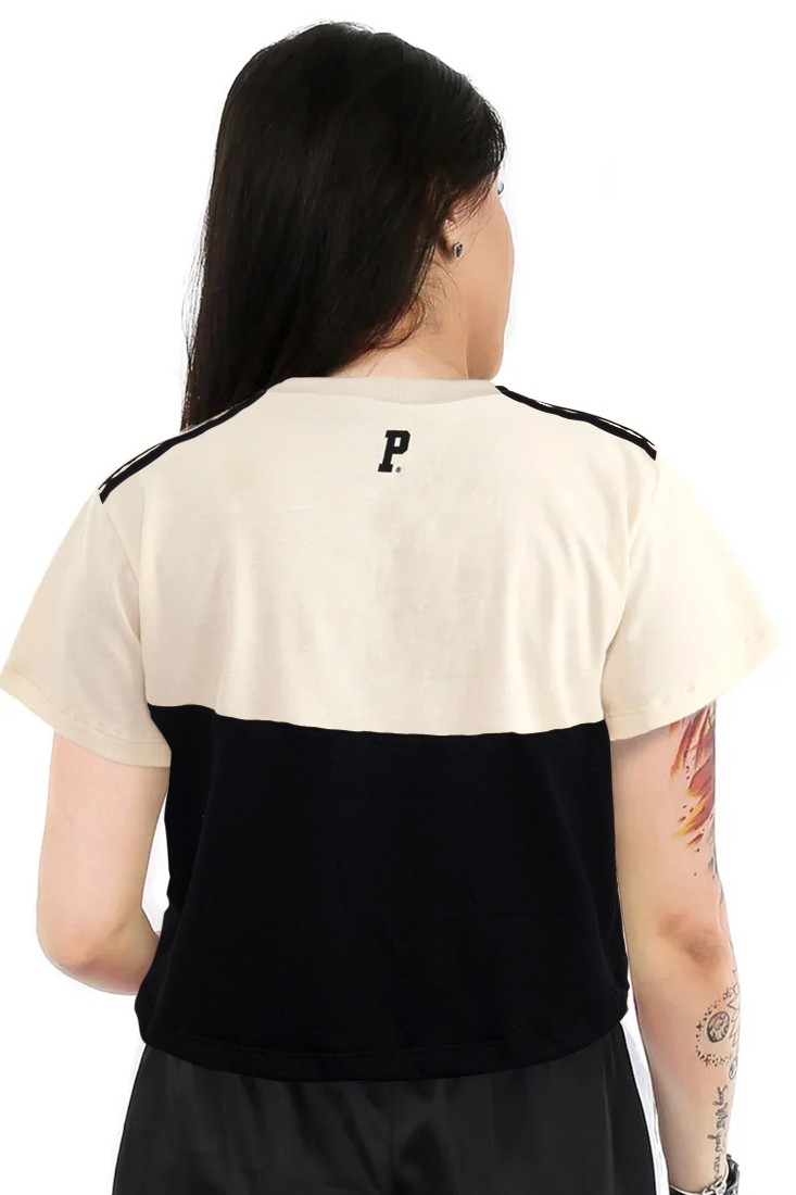 CAMISETA CROPPED PRISON FEMININA NEW YORK OFF WHITE