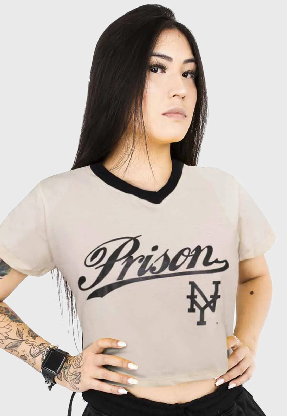 Cropped Prison NY Off- White