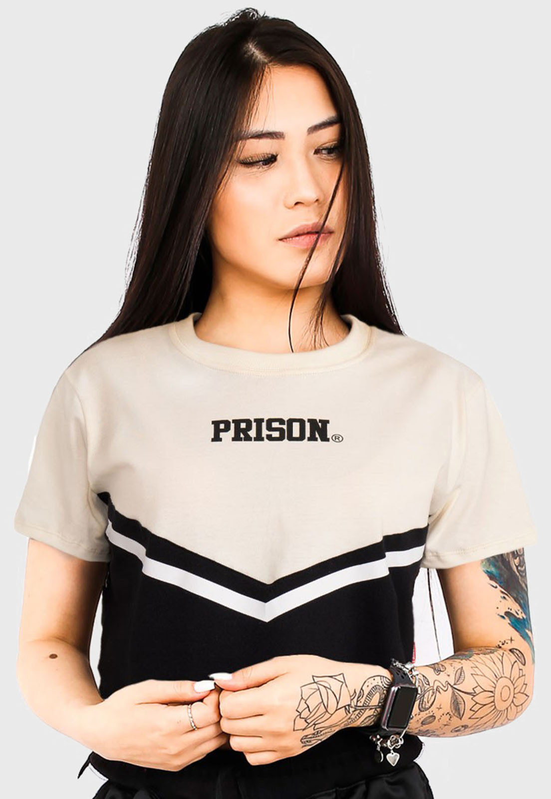 Cropped Prison Off-White