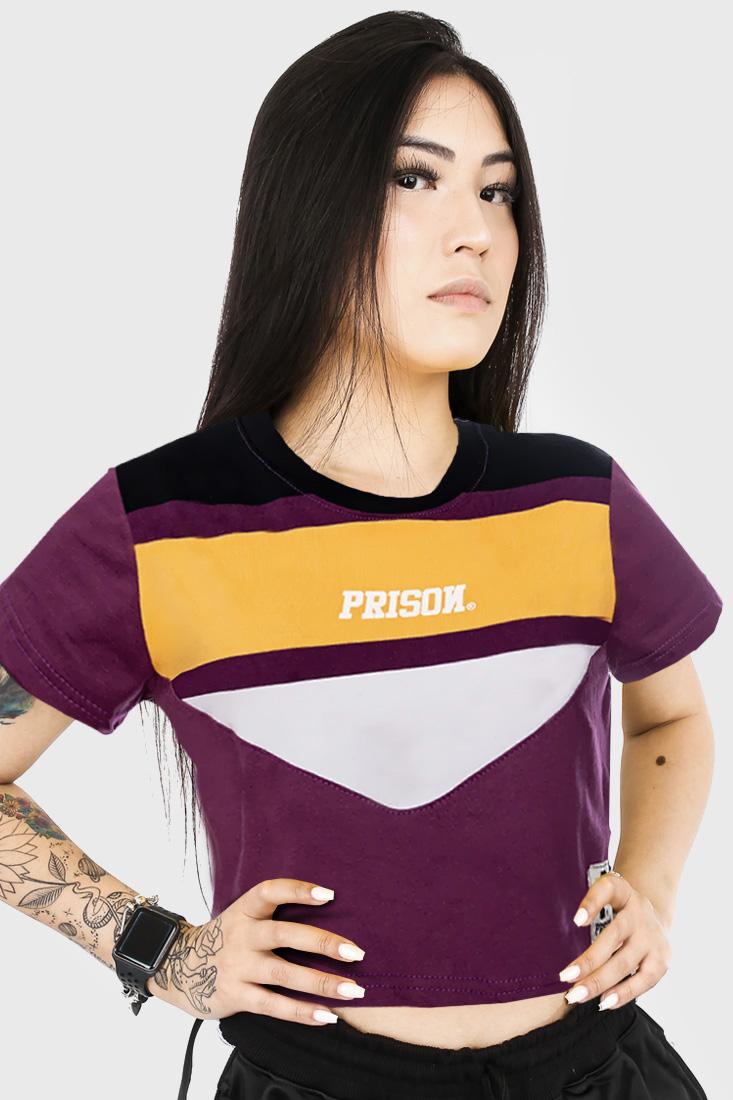 Camiseta Cropped Prison Retro Triple
