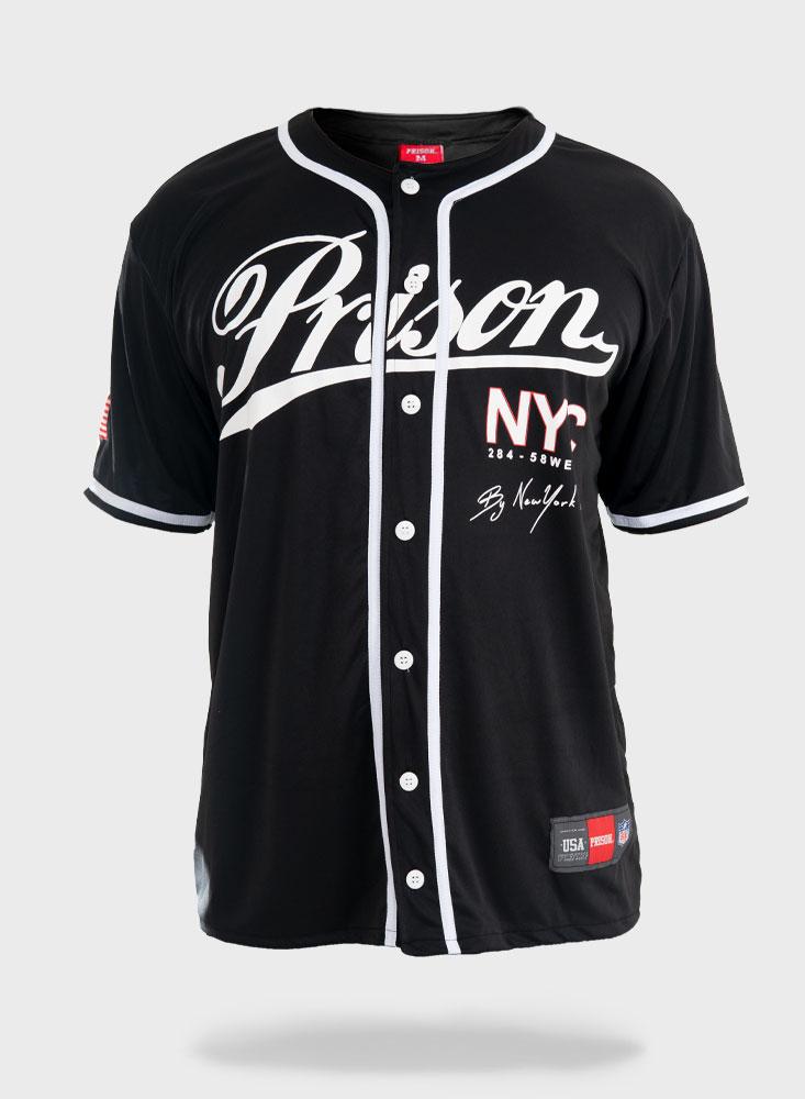 Camiseta de Baseball Prison NYC Black